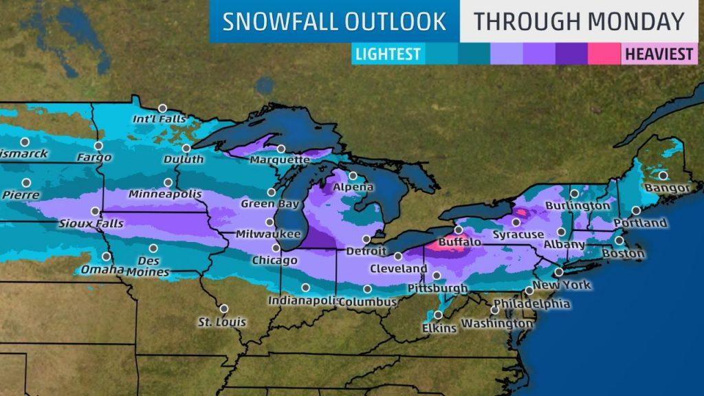 Snowfall Outlook Through Monday