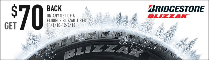 Get 70 Back On Eligible Bridgestone Blizzak Tires Valley